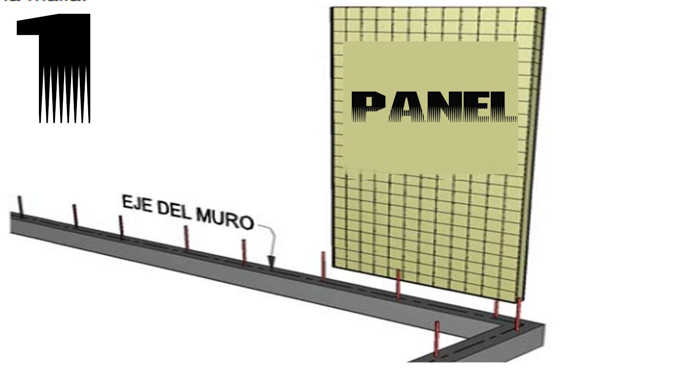 colocacion de muro